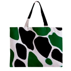 Green Black Digital Pattern Art Zipper Mini Tote Bag