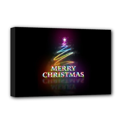 Merry Christmas Abstract Deluxe Canvas 18  X 12   by Nexatart
