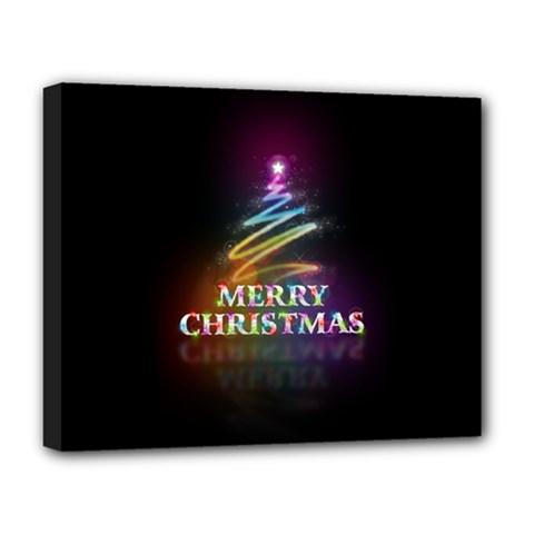 Merry Christmas Abstract Deluxe Canvas 20  X 16