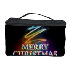 Merry Christmas Abstract Cosmetic Storage Case by Nexatart