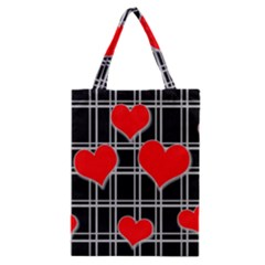 Red Hearts Pattern Classic Tote Bag by Valentinaart