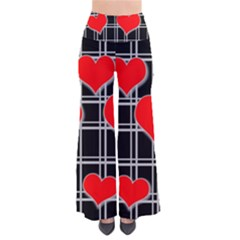 Red Hearts Pattern Pants by Valentinaart