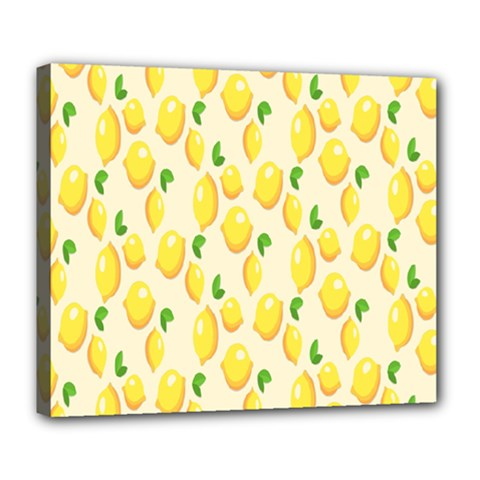 Pattern Template Lemons Yellow Deluxe Canvas 24  X 20