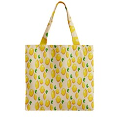 Pattern Template Lemons Yellow Grocery Tote Bag by Nexatart