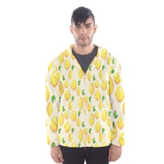 Pattern Template Lemons Yellow Hooded Wind Breaker (men)