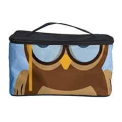 Read Owl Book Owl Glasses Read Cosmetic Storage Case by Nexatart