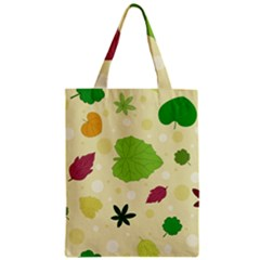 Leaves Pattern Zipper Classic Tote Bag by Nexatart