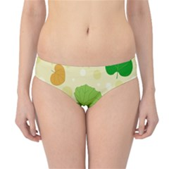 Leaves Pattern Hipster Bikini Bottoms by Nexatart