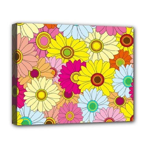 Floral Background Deluxe Canvas 20  X 16