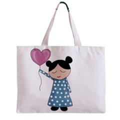Valentines day girl Zipper Mini Tote Bag by Valentinaart