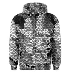 Mosaic Stones Glass Pattern Men s Zipper Hoodie