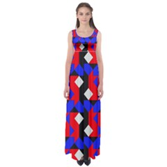 Pattern Abstract Artwork Empire Waist Maxi Dress