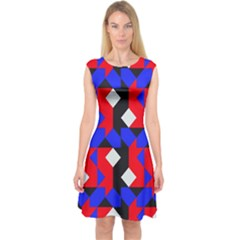 Pattern Abstract Artwork Capsleeve Midi Dress by Nexatart