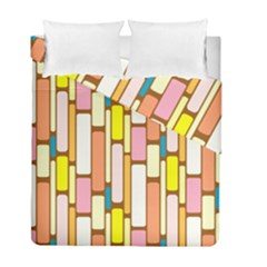 Retro Blocks Duvet Cover Double Side (full/ Double Size) by Nexatart