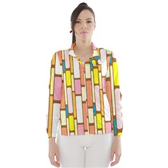 Retro Blocks Wind Breaker (women) by Nexatart