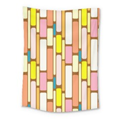 Retro Blocks Medium Tapestry by Nexatart
