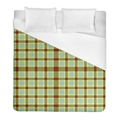 Geometric Tartan Pattern Square Duvet Cover (full/ Double Size) by Nexatart