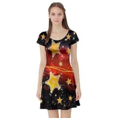 Holiday Space Short Sleeve Skater Dress