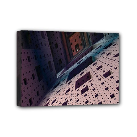 Industry Fractals Geometry Graphic Mini Canvas 7  X 5