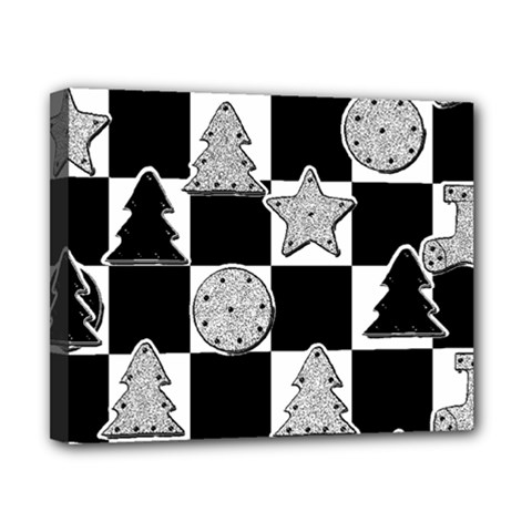 Xmas Checker Canvas 10  X 8  by Nexatart