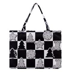 Xmas Checker Medium Tote Bag by Nexatart