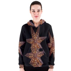 Star Light Decoration Atmosphere Women s Zipper Hoodie