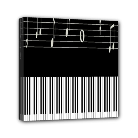 Piano Keyboard With Notes Vector Mini Canvas 6  X 6  by Nexatart