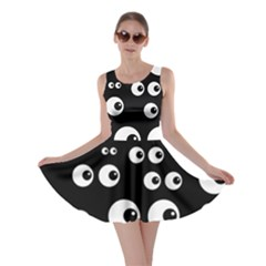 Seamless Eyes Tile Pattern Skater Dress