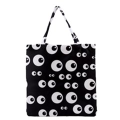 Seamless Eyes Tile Pattern Grocery Tote Bag
