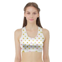 Polka Dots Retro Sports Bra With Border by Nexatart
