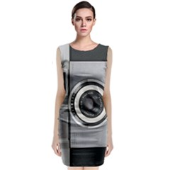 Vintage Camera Classic Sleeveless Midi Dress
