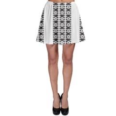Pattern Background Texture Black Skater Skirt