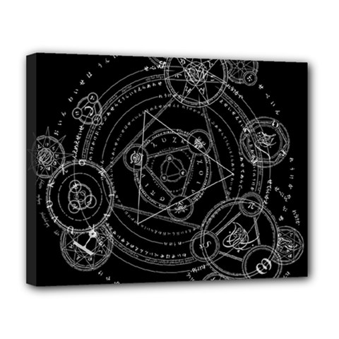 Formal Magic Circle Canvas 14  X 11  by Nexatart