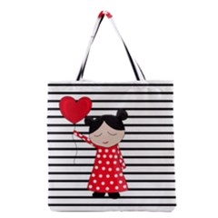 Valentines Day Girl 2 Grocery Tote Bag