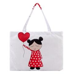 Girl In Love Medium Tote Bag by Valentinaart