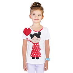 Girl in love Kids  One Piece Tee by Valentinaart