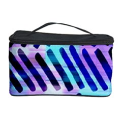Blue Tribal Chevrons  Cosmetic Storage Case by KirstenStar