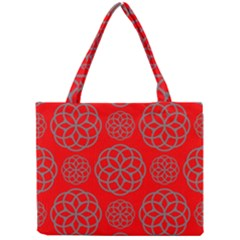 Geometric Circles Seamless Pattern Mini Tote Bag