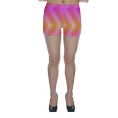 Pattern Background Pink Orange Skinny Shorts