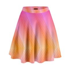 Pattern Background Pink Orange High Waist Skirt by Nexatart