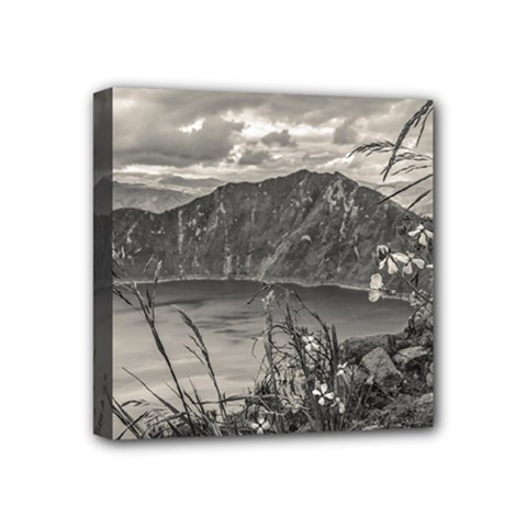 Quilotoa Lake Latacunga Ecuador Mini Canvas 4  X 4  by dflcprints