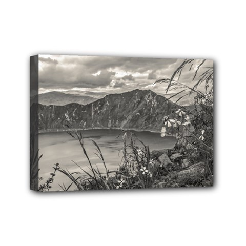 Quilotoa Lake Latacunga Ecuador Mini Canvas 7  X 5  by dflcprints