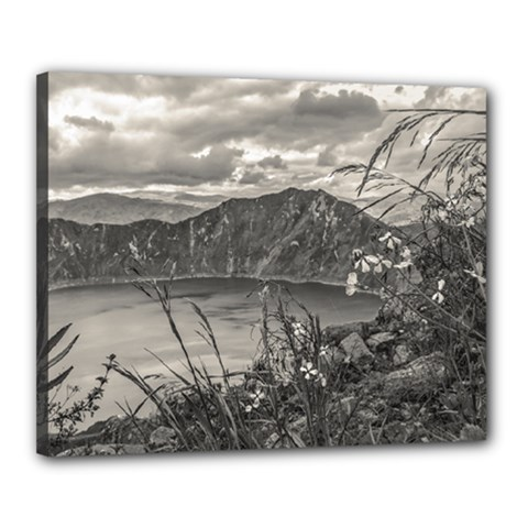 Quilotoa Lake Latacunga Ecuador Canvas 20  X 16  by dflcprints