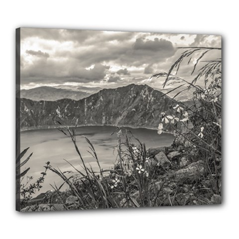 Quilotoa Lake Latacunga Ecuador Canvas 24  X 20  by dflcprints