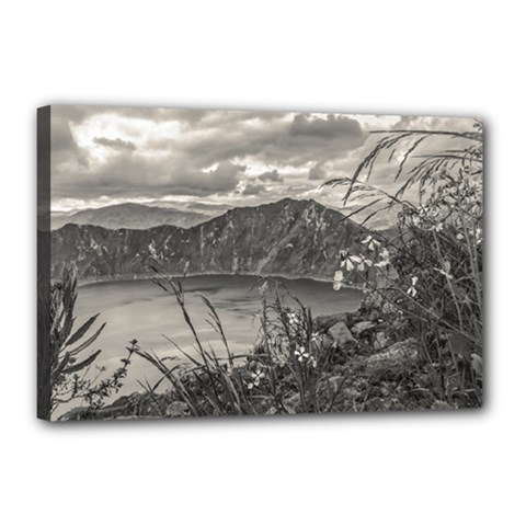 Quilotoa Lake Latacunga Ecuador Canvas 18  X 12  by dflcprints