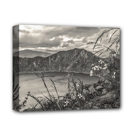 Quilotoa Lake Latacunga Ecuador Deluxe Canvas 14  X 11  by dflcprints