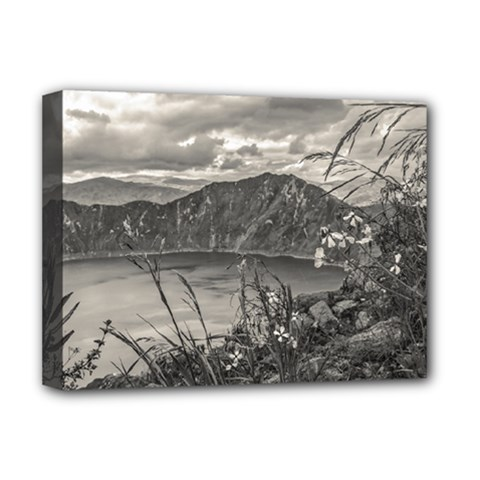 Quilotoa Lake Latacunga Ecuador Deluxe Canvas 16  X 12   by dflcprints