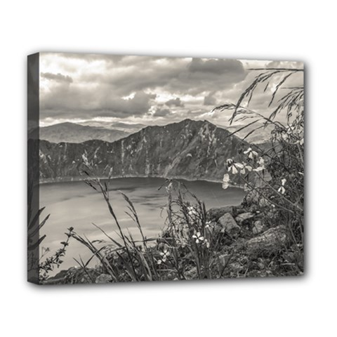 Quilotoa Lake Latacunga Ecuador Deluxe Canvas 20  X 16   by dflcprints