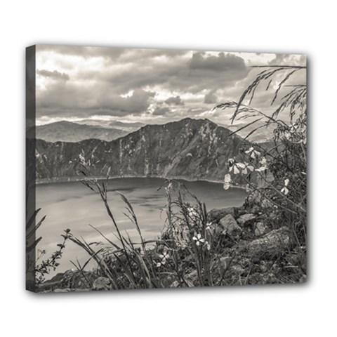 Quilotoa Lake Latacunga Ecuador Deluxe Canvas 24  X 20   by dflcprints
