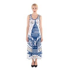 Presidential Inauguration Usa Republican President Trump Pence 2017 Logo Sleeveless Maxi Dress